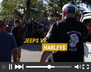 Jeeps Vs. Harleys Convoy