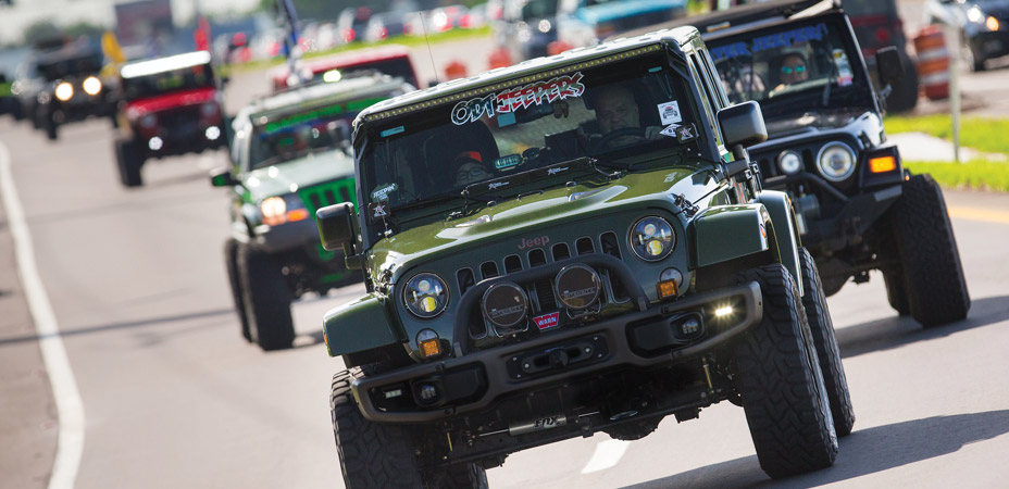 Jeeps and Harleys Convoy for a Cause