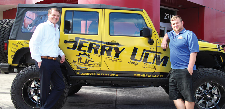 Inside Jerry Ulm Jeep